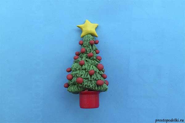 Как сделать елку из пластилина своими руками