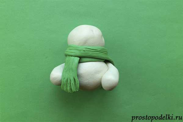 Снеговик из пластилина-06