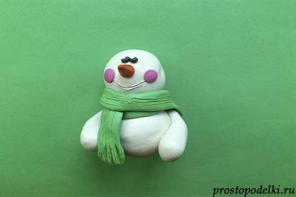 Снеговик из пластилина-07