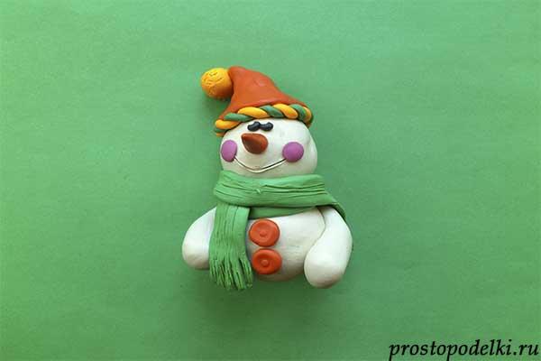 Снеговик из пластилина-09