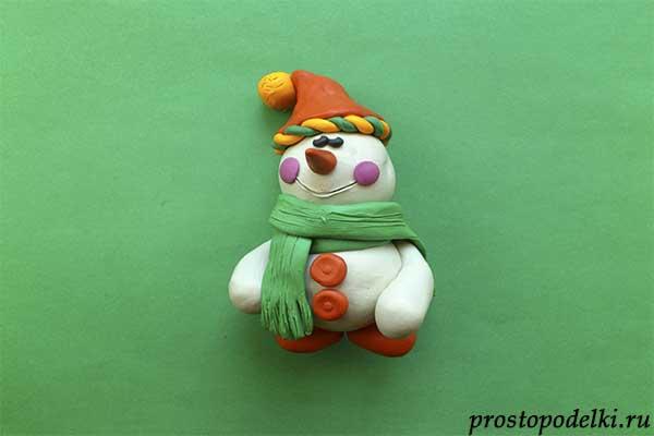 Снеговик из пластилина-10