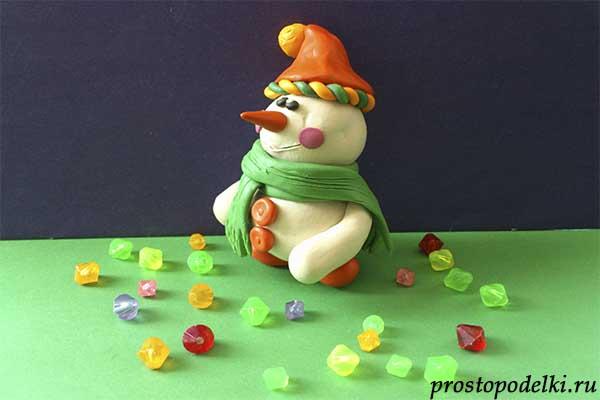 Снеговик из пластилина-12