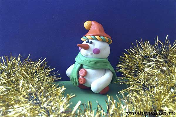 Снеговик из пластилина-title