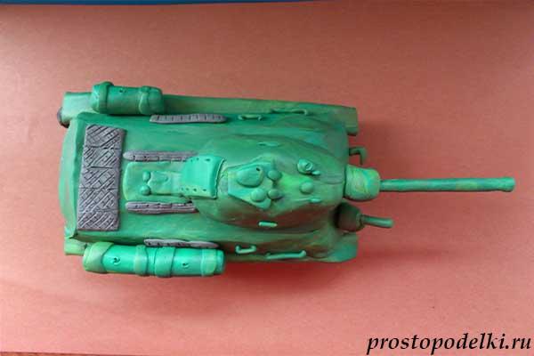 Танк Т-34 из пластилина-24