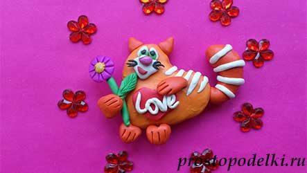 Кот-валентинка