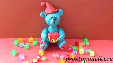Мишка Тедди с сердечком