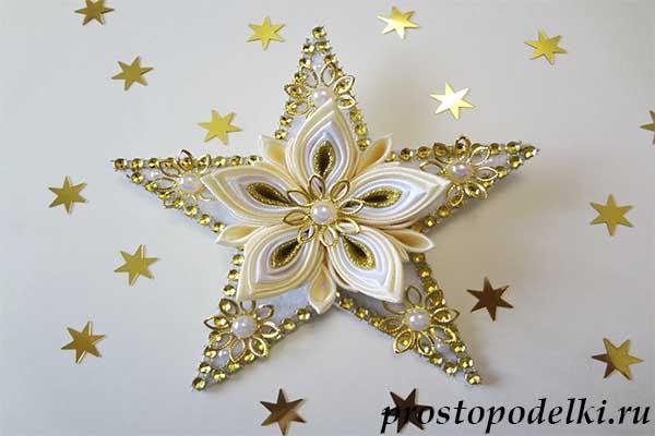 Канзаши звезда шаблон