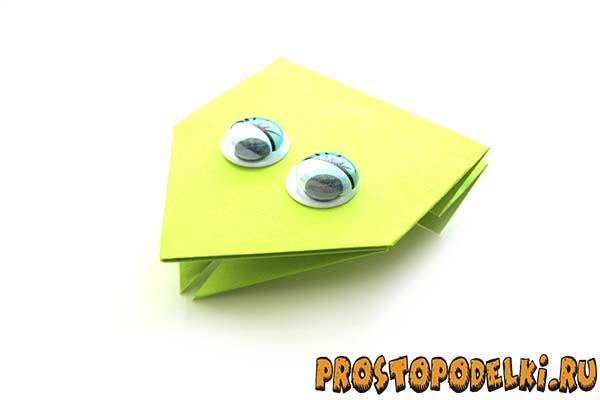 Оригами из бумаги солдат