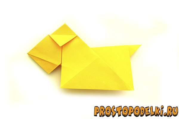 Оригами символ 2018 года