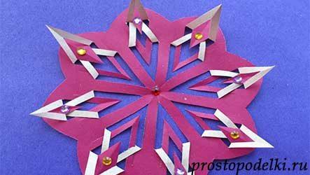 Снежинка из бумаги (киригами)