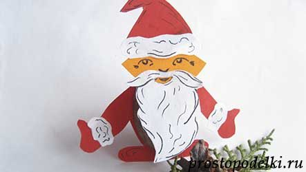 Дед Мороз из ореха