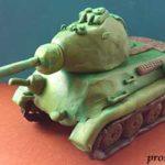 Танк Т-34 из пластилина