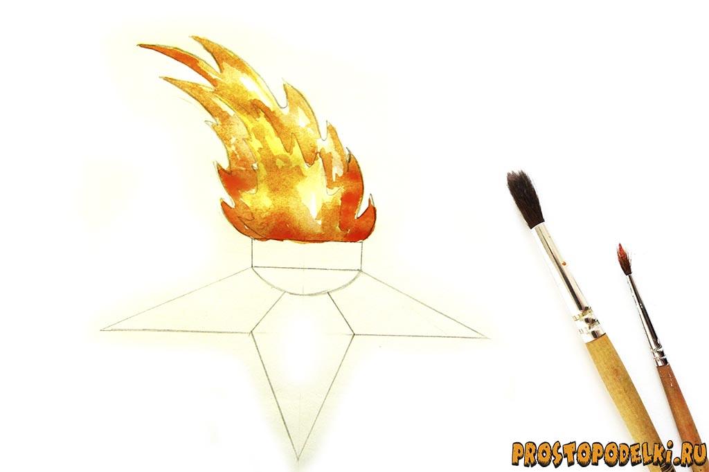 Как нарисовать вечный огонь v.2 - 06