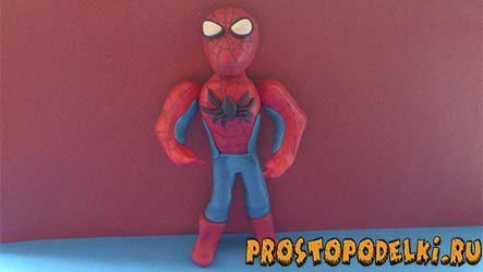 Человек-паук из пластилина