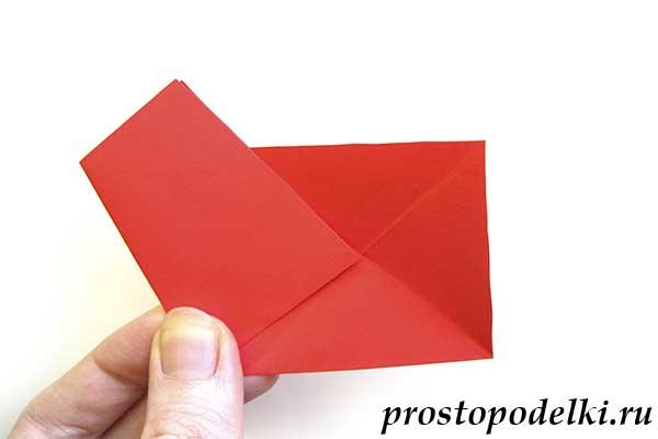 Объемная звезда оригами-06