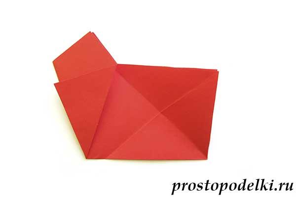 Объемная звезда оригами-07