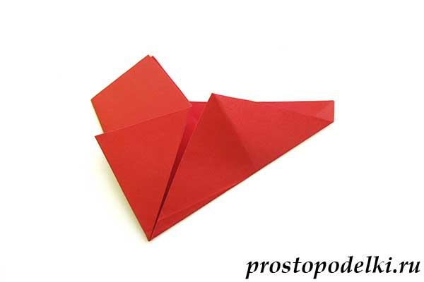 Объемная звезда оригами-08