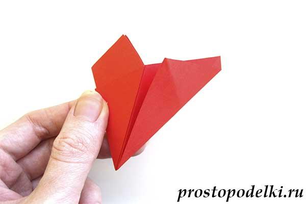 Объемная звезда оригами-09