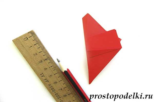 Объемная звезда оригами-11
