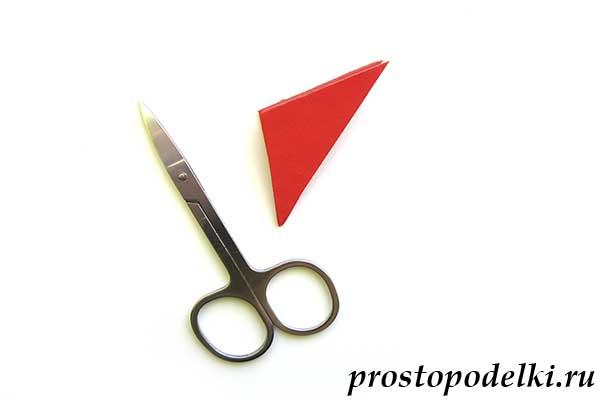 Объемная звезда оригами-12