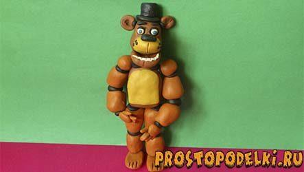 Мишка Фредди из пластилина