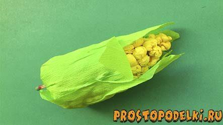 Кукуруза из гофрированной бумаги