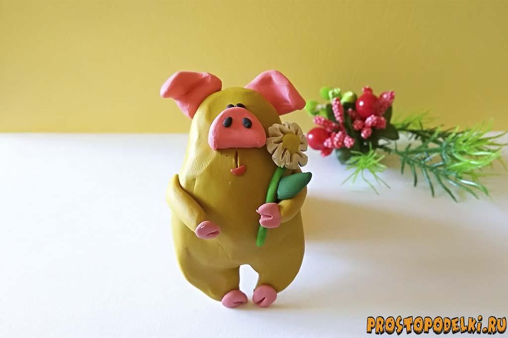 svinka-iz-plastilina-title Как слепить свинку из пластилина – мастер-класс для детей. Поросята, свинки из пластилина, фигурки из мастики