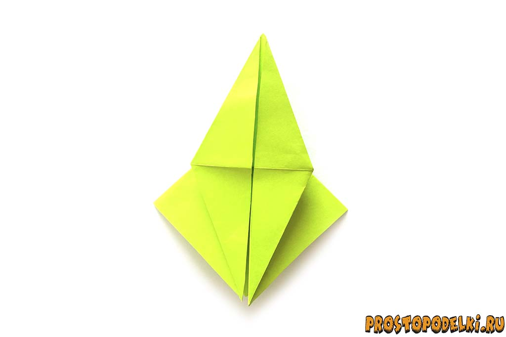 Оригами журавлик из бумаги своими руками