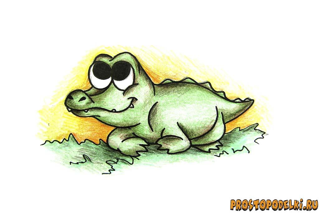 kak-narisovat-krokodila-title Как рисовать животных: крокодилы, аллигаторы, кайманы и гавиалы